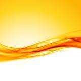 Fondo anaranjado brillante de la frontera de la onda de Swoosh Fotografía de archivo