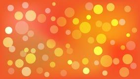 Fondo anaranjado claro del vector con los círculos Ejemplo con el sistema de brillar la gradaci?n colorida Modelo para los follet ilustración del vector