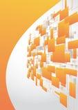 Fondo anaranjado de alta tecnología Fotografía de archivo libre de regalías
