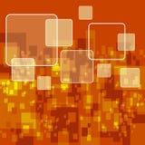 Fondo anaranjado de Digitaces Stock de ilustración
