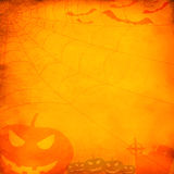 Fondo anaranjado de Grunge Víspera de Todos los Santos Imágenes de archivo libres de regalías