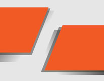 Fondo anaranjado de la forma de la inclinación del extracto Fotografía de archivo