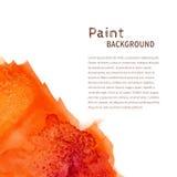Fondo anaranjado de la pintura de la acuarela Imagen de archivo