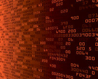 Fondo anaranjado de la seguridad con Hex.-código stock de ilustración