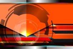 Fondo anaranjado de la tecnología Imagen de archivo