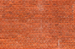 Fondo anaranjado de la textura de la pared de ladrillo Fotografía de archivo libre de regalías