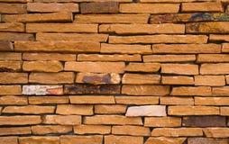 Fondo anaranjado de la textura de la pared de ladrillo con el espacio fotografía de archivo libre de regalías