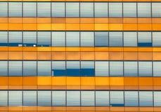 Fondo anaranjado de la ventana de la oficina Imagen de archivo libre de regalías