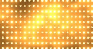 Fondo anaranjado de luces de inundación del movimiento moderno de la animación almacen de video