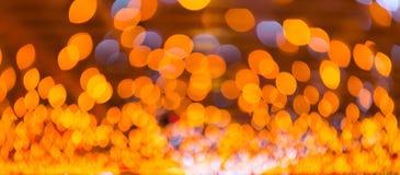 Fondo anaranjado del bokeh Fotografía de archivo libre de regalías