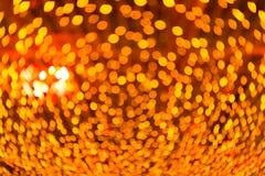Fondo anaranjado del bokeh Imágenes de archivo libres de regalías