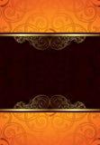 Fondo anaranjado del chocolate Imagen de archivo libre de regalías
