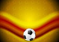 Fondo anaranjado del fútbol del fútbol con la onda roja Foto de archivo libre de regalías