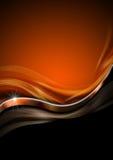 Fondo anaranjado del lujo del negro y del metal Foto de archivo libre de regalías