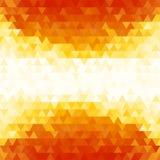 Fondo anaranjado del modelo del triángulo de la pendiente del verano Foto de archivo libre de regalías