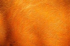 Fondo anaranjado del primer de la pared Fotos de archivo libres de regalías