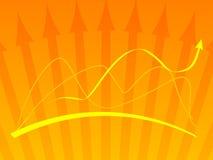 Fondo anaranjado del vector con   Fotografía de archivo