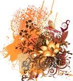 Fondo anaranjado del verano stock de ilustración