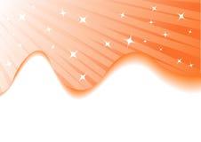 Fondo anaranjado del verano del vector con las estrellas Stock de ilustración