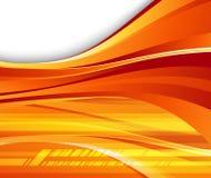 Fondo anaranjado futurista - velocidad Foto de archivo libre de regalías