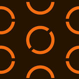 Fondo anaranjado geométrico inconsútil Ilustración del vector stock de ilustración