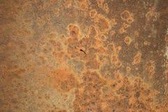 Fondo anaranjado rojo de la chapa del moho Foto de archivo