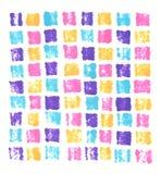 Fondo anaranjado rosado azul púrpura de neón del mosaico del marcador de la mano de la impresión exhausta del extracto ilustración del vector