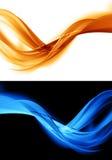 Fondo anaranjado y azul abstracto stock de ilustración