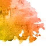 Fondo anaranjado y marrón de la pintura de la acuarela, poniendo letras a bosquejo del libro de recuerdos y rosa stock de ilustración