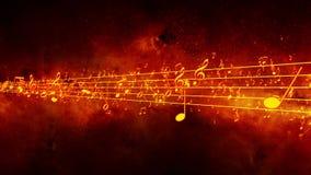 Fondo animado con las notas musicales, notas de la música - LAZO ilustración del vector