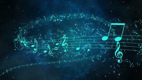 Fondo animado con las notas musicales, notas de la música - LAZO libre illustration