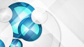 Fondo animado corporativo geométrico azul abstracto