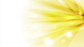 Fondo animado de los rayos de sol abstractos brillantes anaranjados