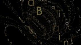 Fondo animado del extracto del alfabeto ilustración del vector