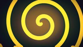 Fondo animado dinámico del color del espiral de la forma del estilo del fondo del nuevo movimiento universal retro suave abstract almacen de metraje de vídeo