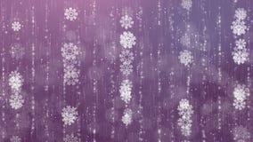 Fondo animado hermoso de los copos de nieve almacen de metraje de vídeo
