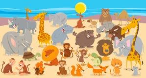 Fondo animal de la colección de los caracteres de la historieta stock de ilustración