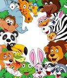 Fondo animal de la historieta Foto de archivo libre de regalías