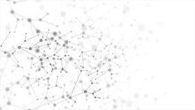Fondo animato astratto della struttura molecolare del DNA di grey
