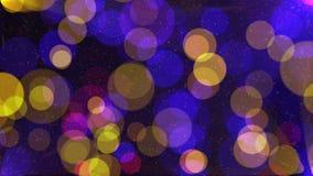 Fondo animato dei cerchi di colore commoventi di pendenza illustrazione vettoriale