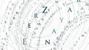 Fondo animato dell'estratto di alfabeto royalty illustrazione gratis