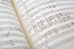 Fondo antiguo de la hoja de música Imagen de archivo