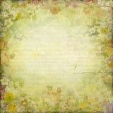 Fondo antiguo de la textura del papel del marco de las flores de la elegancia del vintage stock de ilustración