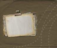 Fondo antiguo del rasguño con el papel enajenado Foto de archivo libre de regalías