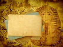 Fondo antiguo del recorrido con las postales ilustración del vector