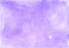 Fondo apacible de la lila pintado en acuarela Imagen de archivo