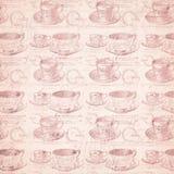 Fondo apenado sucio de la taza de té foto de archivo