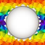 Fondo aperto dell'arcobaleno triangolare Immagini Stock Libere da Diritti