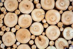 Fondo apilado de madera natural Foto de archivo