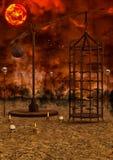 Fondo apocalittico del paesaggio Immagine Stock